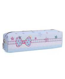 Rectangle Pencil Pouch Star Print - Blue