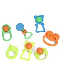 Mamma Mia Baby Rattle Set Pack of 7 - Multicolour