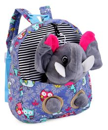 Soft Toy Bag With Elephant Applique Purple - Height 10 Inches e237c8a819f79
