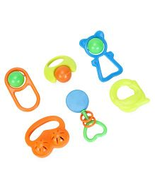 Mamma Mia Baby Rattle Set Pack of 6 - Multicolor