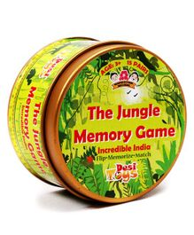 Desi Toys Jungle Memory Card Game - Green