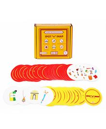 Desi Toys Spot n Snap Card Game - Red