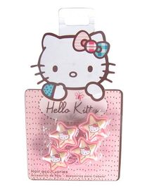 Hello Kitty Rubber Bands Star Design Pack of 4 - Pink Yellow