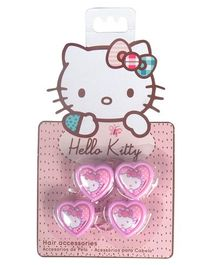 Hello Kitty Rubber Bands Heart Design Pack of 4 - Pink