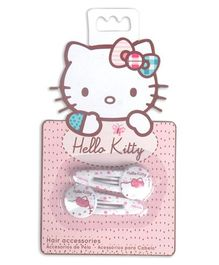 Hello Kitty Snap Clips Pack of 2 - White