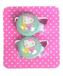Hello Kitty Round Hair Ties Pack of 2 - Green