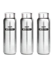 Milton Aqua Stainless Steel Fridge Water Bottle Pack of 3 Silver - 930 ml