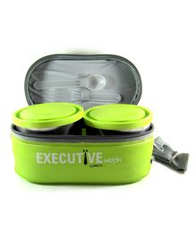Milton Insulated Executive Lunch Box Set of 6 - Green