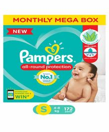 Pampers Pant Style Diapers Monthly Box Pack Small Size - 172 Pieces