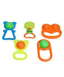 Mamma Mia Baby Rattle Set Pack of 5 - Multicolor