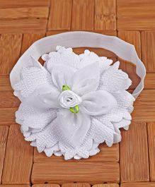 Babyhug Headband Floral Applique - White