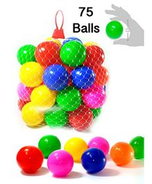 Eevovee Plastic Play Balls Pack of 75 - Multicolour