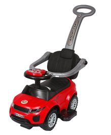 EZ' Playmates Super SUV Manual Push Ride-On With Music And LED Lights - Red