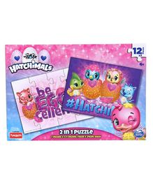 Hatchimal 2 in 1 Puzzle Purple  - 24 Pieces