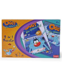 Funskool Oggy 2 in 1 Puzzle Blue - 12 Pieces