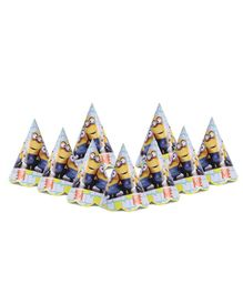 Karmallys Paper Caps With Minions Print Pack of 9 - Blue