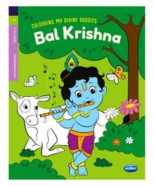 Colouring My Divine Buddies Bal Krishna Colouring Book - English