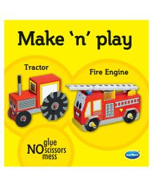 Make N Play Tractor & Fire Engine Models - English