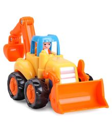 IndiaBuy Friction Friction Powered Tractor - Yellow & Orange