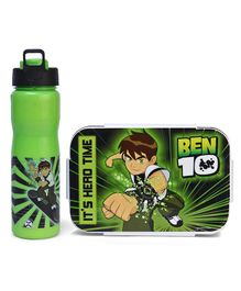 Ben 10 Lunch Box & Insulated Water Bottle Hero Time Print - Green