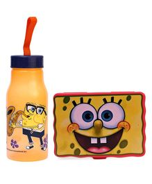 Jewel Sponge Bob Lunch Box  & Water Bottle Set - Red