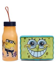 Jewel Sponge Bob Lunch Box & Water Bottle Set - Aqua Green