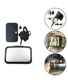 Safe-O-Kid- Baby Safety Large Rear View Mirror - Black