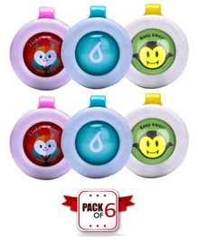 Ole Baby Anti Mosquito Buttons Pack of 6 - Red Blue Green