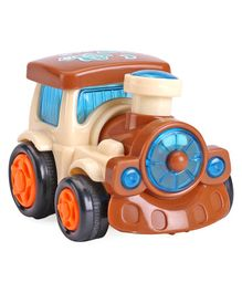IndiaBuy Friction Powered Toy Train Engine - (Color May Vary)