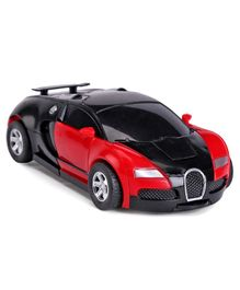 IndiaBuy Friction Powered Transformer Bugatti Toy Car - Red Black
