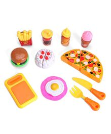 IndiaBuy Fast Food Play Set - Multicolour