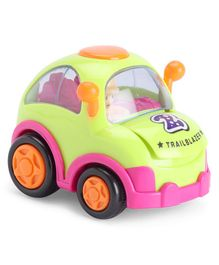 IndiaBuy Friction Powered Toy Car - Green Pink