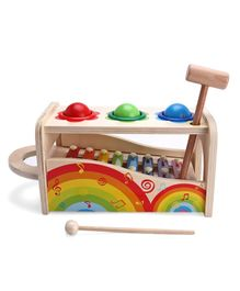 IndiaBuy Wooden 2 in 1 Knock The Ball & Xylophone Game