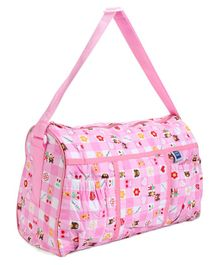 Mee Mee Diaper Bag With Teddy Print - Pink