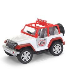 Centy Ranger Adventure Pull Back Jeep - Red & White