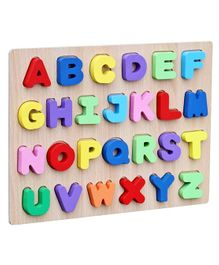Webby Educational Wooden Capital Alphabets Letter Tray - Multicolor
