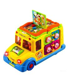 Webby Musical School Bus Toy With Light & Sound - Yellow