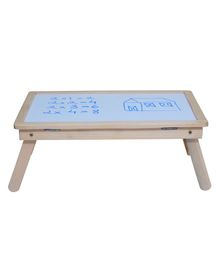 Sattva Portable Study Table With White Board - White