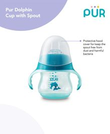 Pur Dolphin Cup with Spout Blue - 230 ml