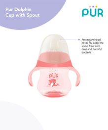 Pur Dolphin Cup  with Spout Pink - 230 ml