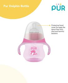 Pur Dolphin Feeding Bottle Pink - 230 ml