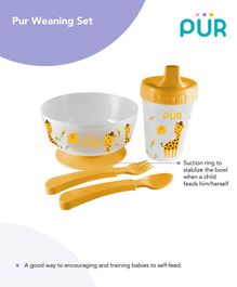 Pur Weaning Set Yellow - Cup Capacity 250 ml