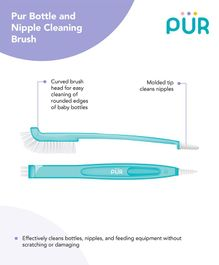 Pur Bottle & Nipple Cleaning Brush - Blue