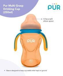 Pur Multi Grasp Twin Handle Sipper Cup Yellow Blue - 250 ml