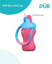 Pur Go'in Out Sipper Cup Pink & Blue - 250 ml