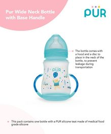 Pur Wide Neck  Bottle With Base Handle Blue - 250 ml