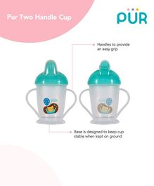 Pur Twin Handle Non Spill Cup Blue - 250 ml