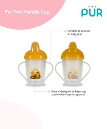 Pur Twin Handle Non Spill Cup Yellow - 250 ml