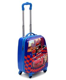 Disney Pixar Cars Kids Trolley Bag Blue - Height 14.9 Inches