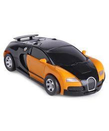 IndiaBuy Friction Powered Transformer Bugatti Toy Car - Yellow Black